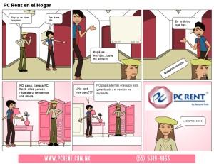 comic- PCRENT en el hogar